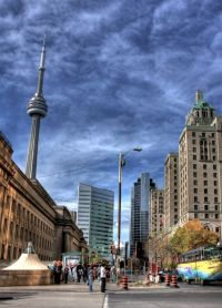 Toronto and the CN Tower by Duane Storey