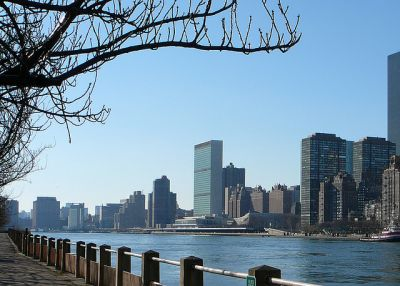 East River and UN
