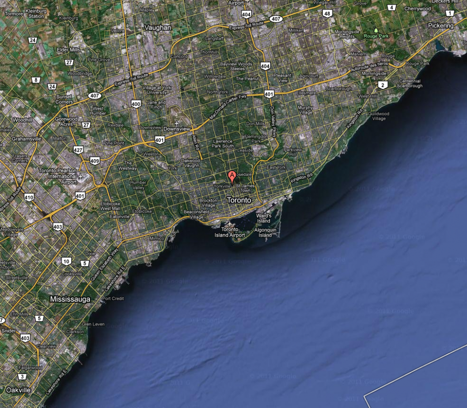 Yorkville satellite view