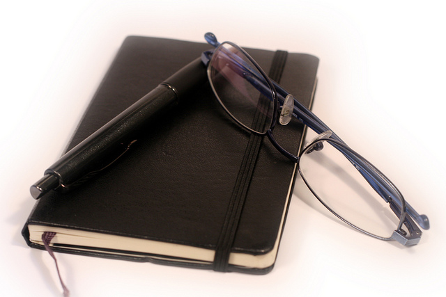 Pen diary and glasses by Generationbass com