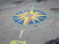 Map Rose on the Sidewalk on the Corner of Queen and Spadina by Steve Harris
