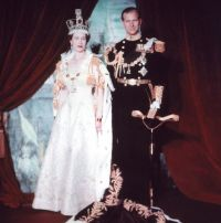 Elizabeth and Philip 1953 by Wikimedia Commons