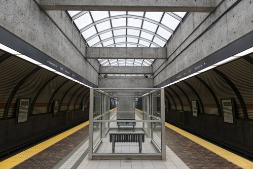 Architecture of TTC Glencairn Station in Toronto
