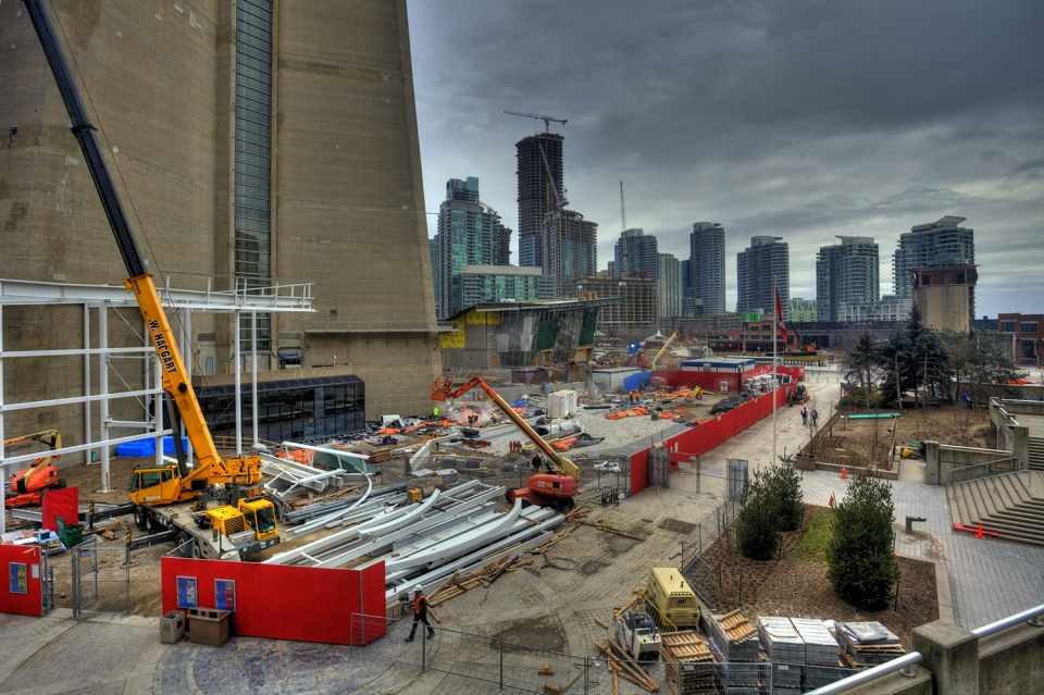 Toronto CN Tower Construction