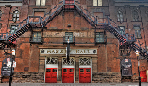 Massey Hall facade with staircase