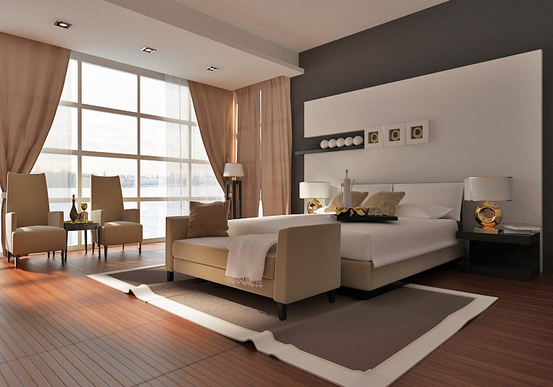 How to design the bedroom without making these common - Chambre couleur chaude ...