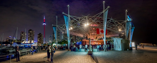 PanAm Food Festival Night Panorama