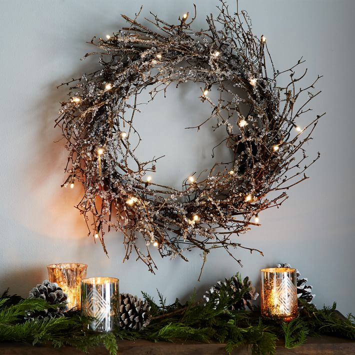 LED Glitter Wreath