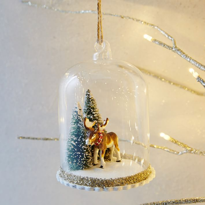 Rachel Kozlowski Cloche Ornament  Moose
