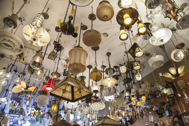 Eclectic Revival ceiling full of lights