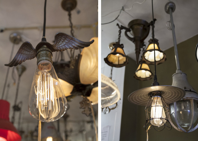 Eclectic Revival wings and pendants