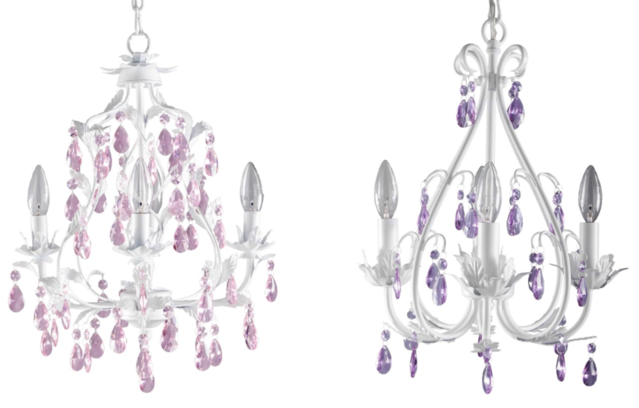 Firefly Kids Lighting Isabella and Sophia 4 Arm Crystal Chandelier