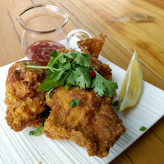 Taiwanese Fried Chicken at Kanpais Snackbar by Alexa Clark