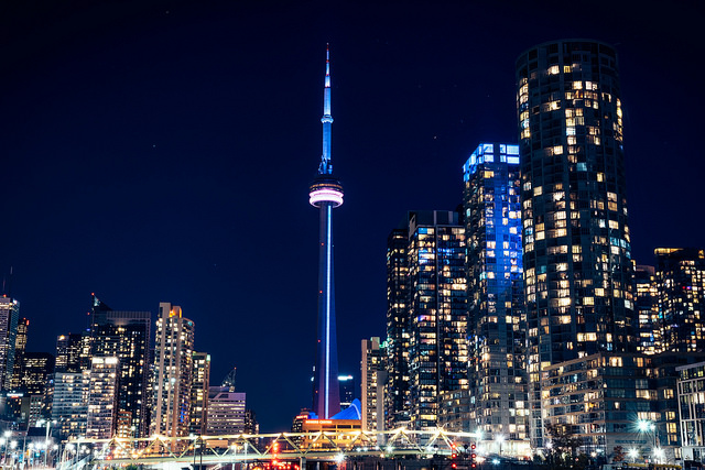 Toronto at Night by Raphaël Duperret
