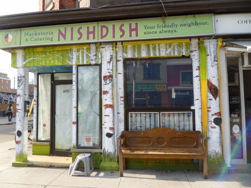 NishDish storefront painted by Ren Lonechild