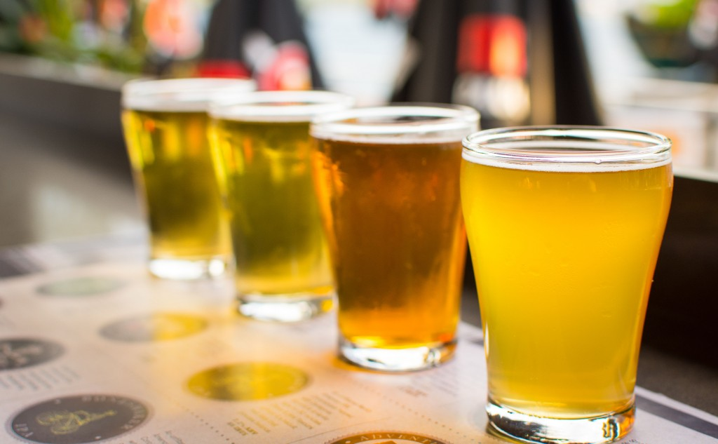 Lighter beer flights
