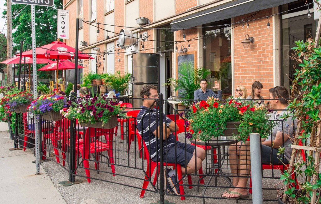Good old-fashioned city patio
