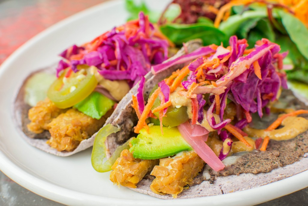 Tempeh Tacos are delicious here